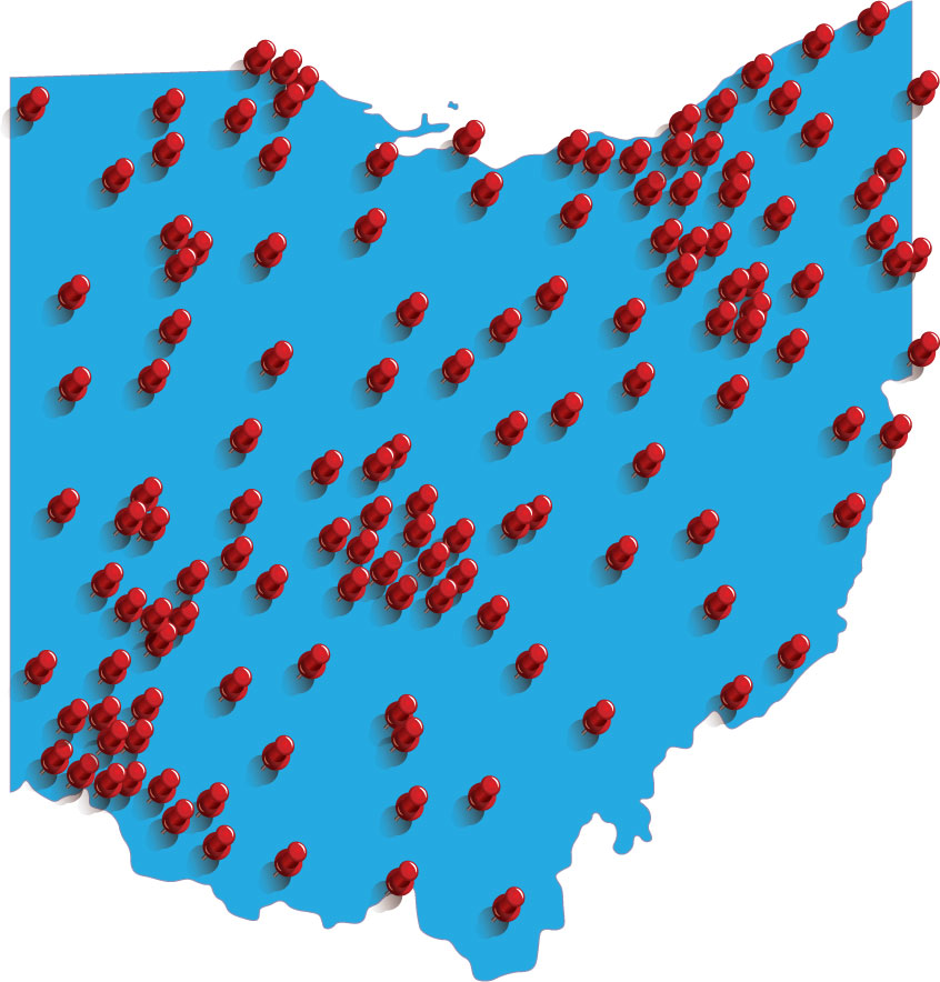 Ohio dog bite cases map